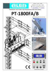 новий підйомник фасадний PT ALBA 1800FA/B